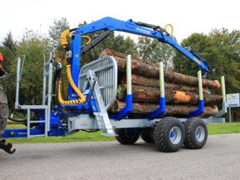 Remorcă pentru lemne Alpin telematic